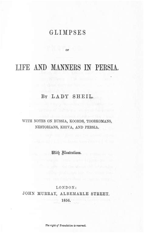 glimpses  life  manners  persia