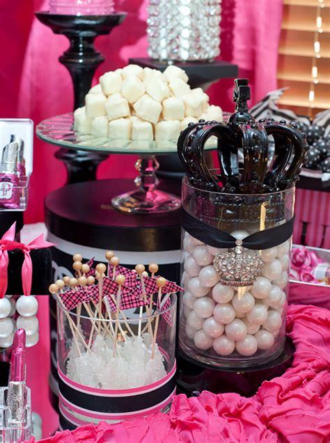 pink  black sweet sixteen evite