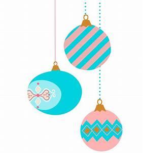 9 vintage Christmas ornament clip art pastel color retro