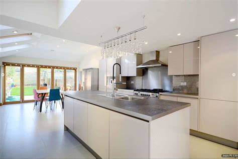 designer kitchens for less previous project white handleless kitchen units with 6647