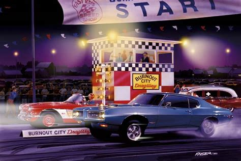 limited edition automotive art prints  muscle cars