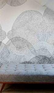 Papier Peint Noir Et Doré : papier peint imitation carrelage en 50 id es ~ Melissatoandfro.com Idées de Décoration
