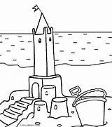 Castle Coloring Pages Sand Printable Cool2bkids sketch template