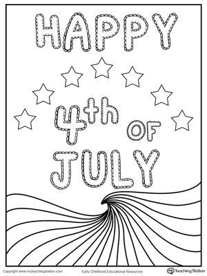 happy   july wave flag coloring page flags july