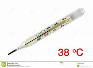 Body Temperature Thermometer - 38 C Stock Image - Image ...