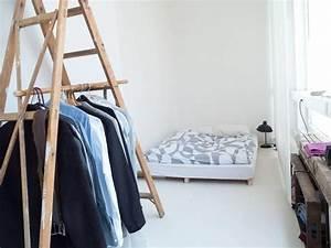Kleiderstange Wandmontage Dachschräge : leiter als kleiderstange kreative idee f rs wg zimmer ~ Lizthompson.info Haus und Dekorationen