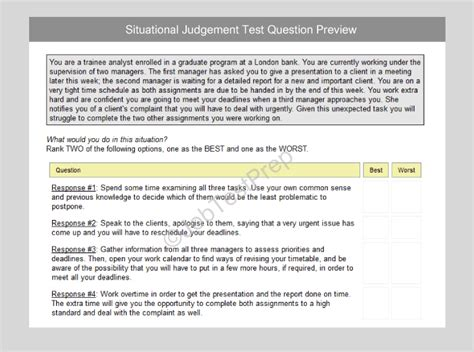 hsbc situational judgment test practice talent screener