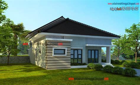 contoh rumah minimalis  setengah lantai desain rumah