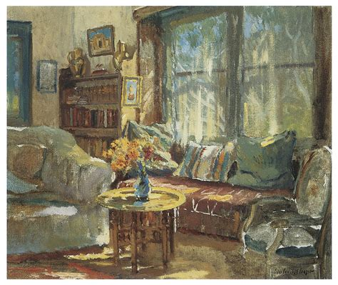Cottage Interior Painting By Colin Campbell Cooper