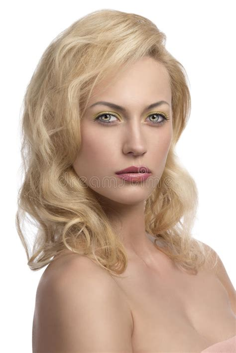 Sexy Blonde Girl In Closeup Portrait Royalty Free Stock Image Image