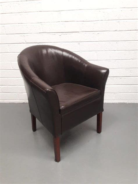 brown leather tub chair lolliprops event prop