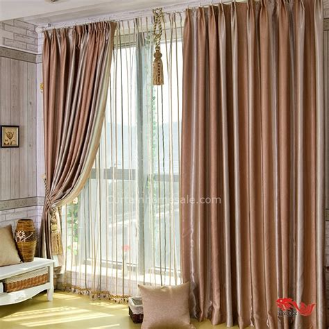 stylish brown lines thermal living room japanese door curtains
