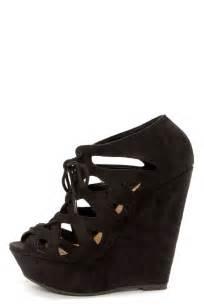 Cute Black Wedge Shoes