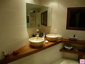 meuble vasque salle de bain et modele de salle d eau With salle de bain design avec vasque petite salle de bain