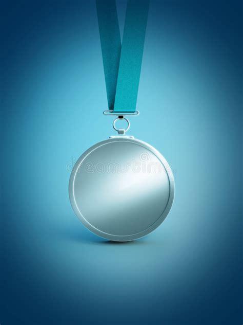 silver award medal stock vector illustration  blank