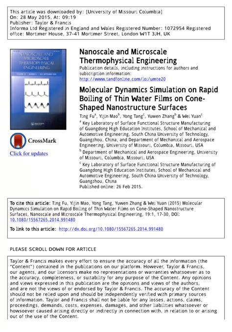 molecular dynamics simulation  rapid boiling