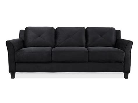 walmartca sectional sofa lifestyle solutions black 3 seat upsable sofa