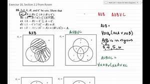Using Venn Diagrams To Give Visual Proof