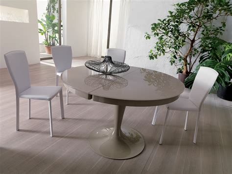 grey and white dining table modern round light grey lacquered extendable dining table