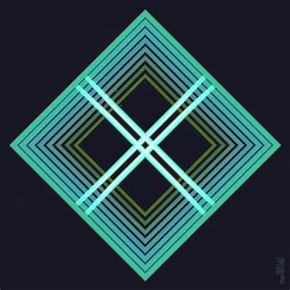 Loop Infinite Squares Geometry Loops Illusion Optical