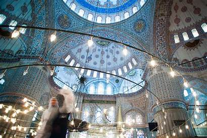 Mosque Istanbul Turkey Inside Europe Interior Commons