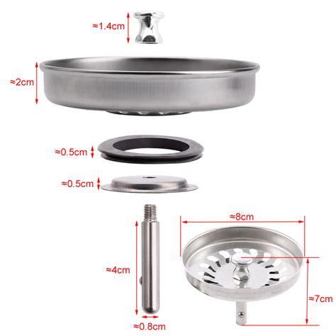replacement kitchen sink 2x 8cm replacement kitchen sink drain strainer waste 1873