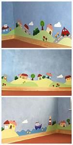 Wandgestaltung Für Kinderzimmer : die 25 besten ideen zu wandgestaltung kinderzimmer auf ~ Michelbontemps.com Haus und Dekorationen