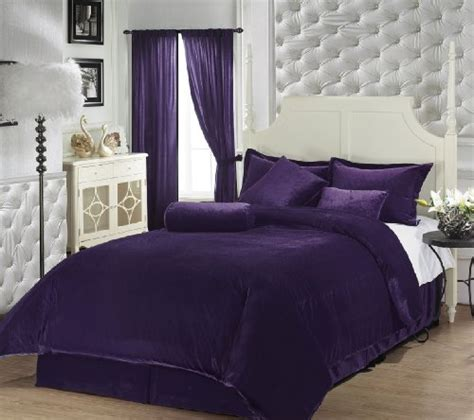 chezmoi collection 7 pieces luxury solid purple soft