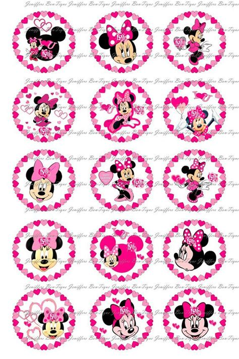 minnie mouse valentines day bottle cap images