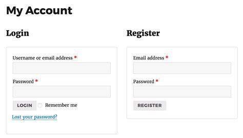 Registration/login Page