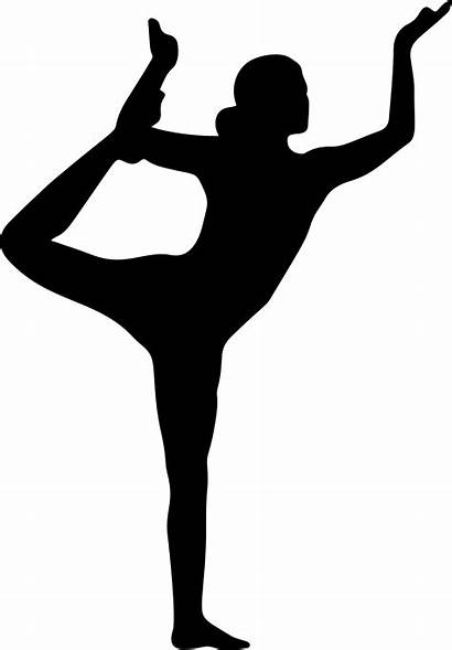 Yoga Silhouette Clipart Exercise Pose Fitness Poses