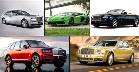 From Rolls-royce To Bentley, The Most Expensive Cars In