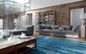 ameublement design du salon 46 idees par roche bobois With tapis de marche avec canape roche