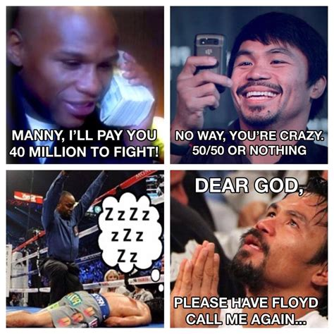 Pacquiao Meme - floyd mayweather releases a christmas card with his thoughts on a manny pacquiao fight