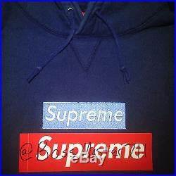 Ice Blue on Navy Box Logo Supreme NY Bogo OG RARE