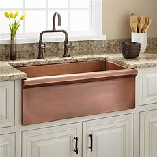 """30"""" Bria Copper Farmhouse Sink  Kitchen"""