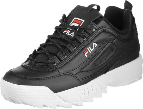 Sepatu Fila Black fila disruptor low shoes black