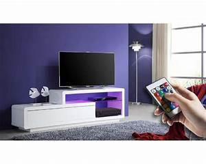 Ensemble Meuble Tv Conforama : meuble tv laque blanc led 2017 et meuble tv laque noir ~ Dailycaller-alerts.com Idées de Décoration