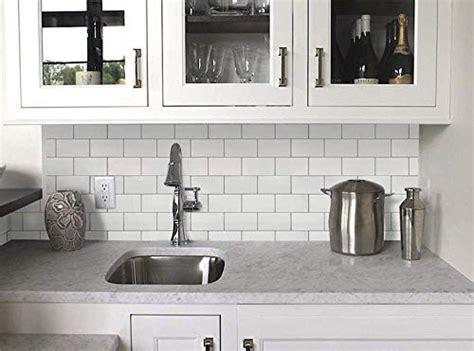 white subway removable peel stick tile backsplashself