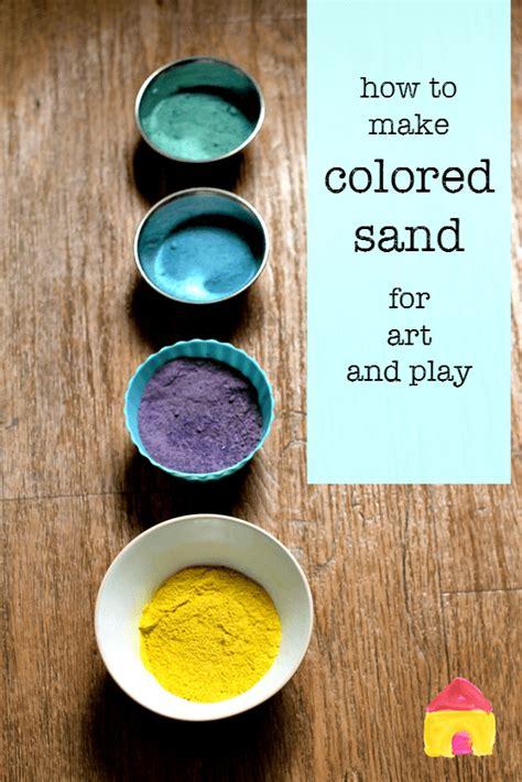 How To Make Coloured Sand Nurturestore