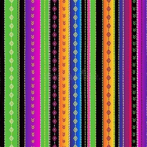 Mexican Blanket Stripes Seamless Vector Pattern Stock