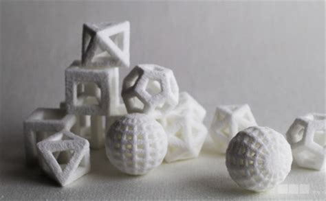 innovative  food printers create edible geometric forms