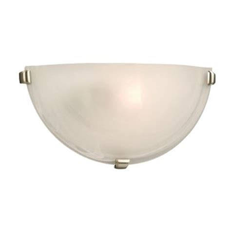 wall sconces home depot hton bay marbled glass wall sconce with 3 pewter