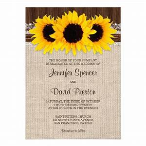 rustic country sunflower wedding invitations sunflower With wedding invitation templates with sunflowers