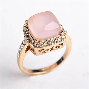 luxury square opal wedding rings for women cz diamond With opal wedding rings for women