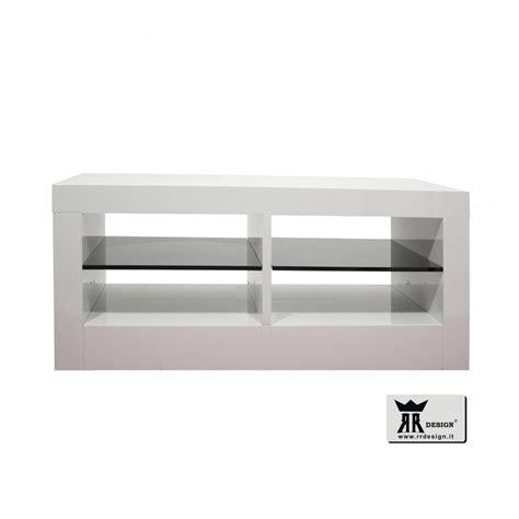 mensole bianco lucido porta tv bifacciale sirio laccato bianco lucido della