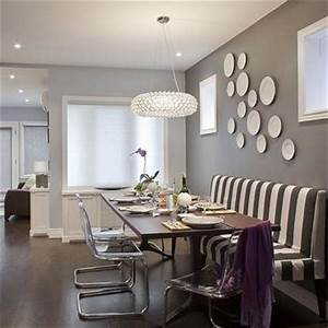 decorative wall baskets eclectic dining room With dining room table with bench against wall