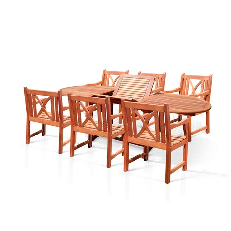 7 Patio Dining Set by Vifah Patio 7 Dining Set Reviews Wayfair