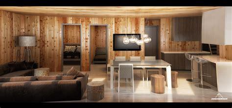 cuisine en sous sol zone sismique bois hamel chalet interieur salon cuisine sous sol v2 zone sismique design