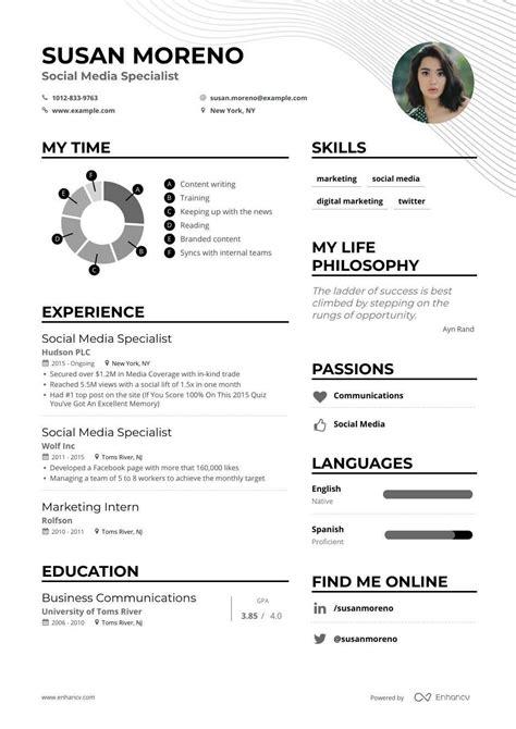 social media specialist resume